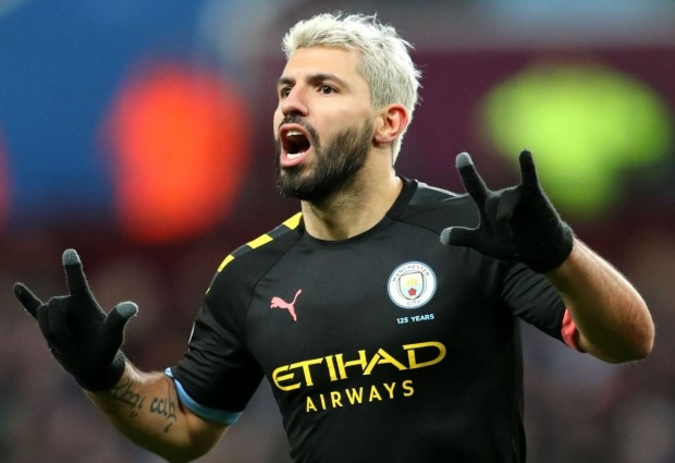 Aston Villa 1 -6 Manchester City: Aguero sets two records on Drinkwater's disastrous debut