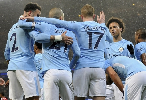 Manchester City 3 -1 Leicester City: Gundogan and Jesus complete champions' comeback