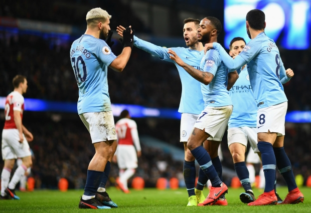 Manchester City 3 -1 Arsenal: Aguero stars as champions bounce back