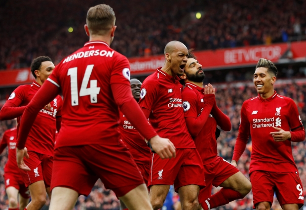 Liverpool 2 -0 Chelsea: Salah stunner sends Reds back to the summit