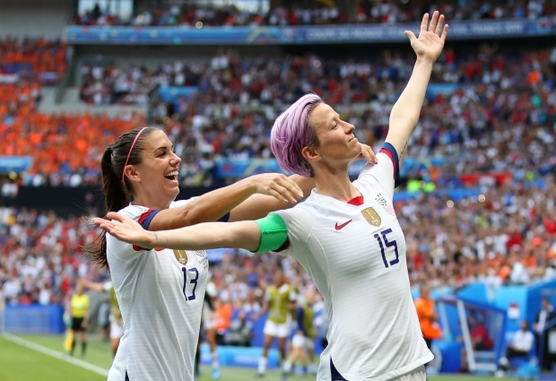 USA 2 -0 Netherlands: Rapinoe scores from the spot as champions defend their title