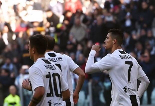 Juventus 2 -1 Sampdoria: Cristiano Ronaldo at the double as champions saved by VAR