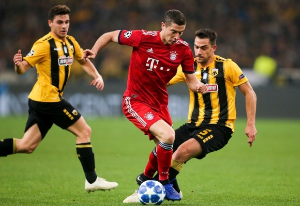 AEK Athens 0 -2 Bayern Munich: Lewandowski helps to further ease Kovac woes