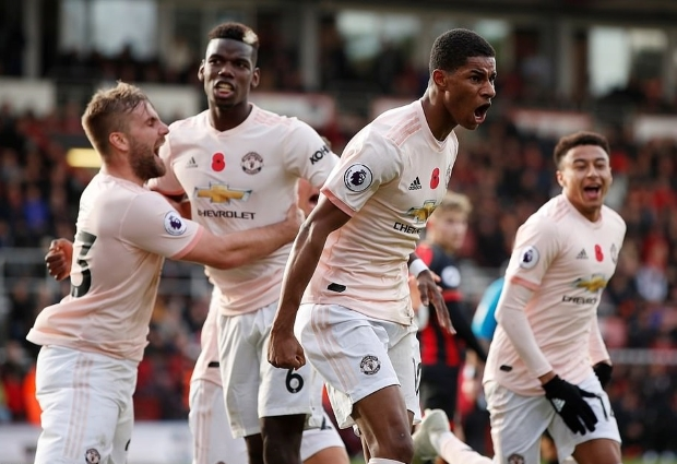 Bournemouth 1 -2 Manchester United: Rashford's late winner lifts Mourinho's men