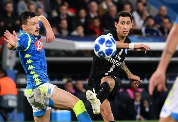 Paris Saint-Germain 2 -2 Napoli: Di Maria rescues a point for PSG