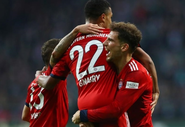 Werder Bremen 1 -2 Bayern Munich: Gnabry at the double to boost champions