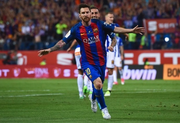 Barcelona 3 -0 Deportivo Alaves: Messi's milestone goal sets up victory