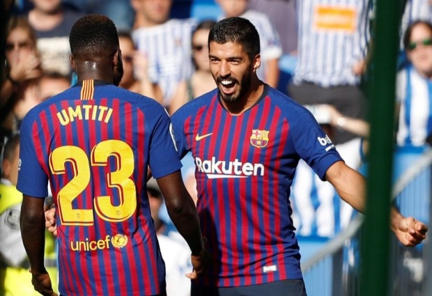 Real Sociedad 1 -2 Barcelona: Suarez and Dembele maintain perfect start