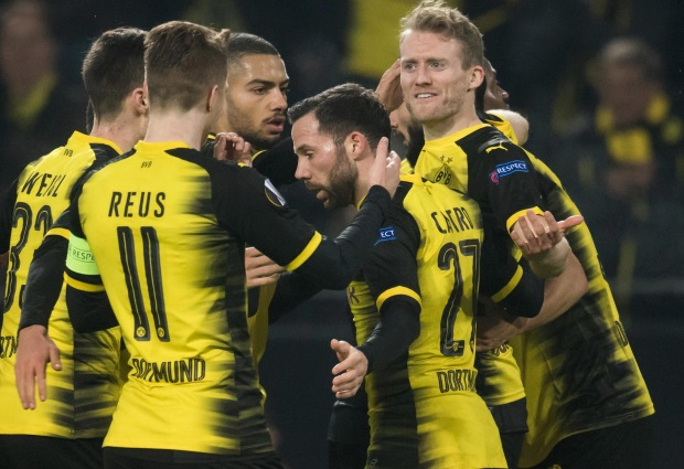 Borussia Dortmund 3 -2 Atalanta: Michy Batshuayi strikes twice as hosts come from behind to take control of Europa League tie