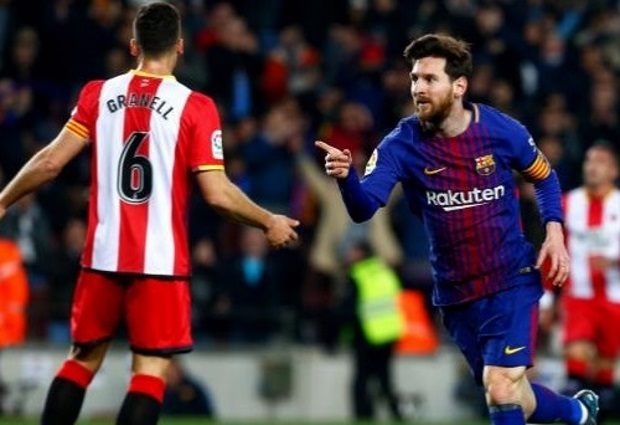 Barcelona 6 -1 Girona: Lionel Messi produces magic as Luis Suarez's hat-trick helps smash another record