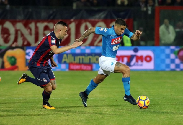 Crotone 0-1 Napoli: Marek Hamsik's first-half goal extends Napoli's lead at the top of Serie A to four points.