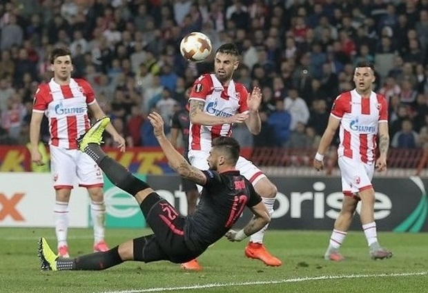 Red Star Belgrade 0 -1 Arsenal: Glorious Olivier Giroud goal maintains Arsenal's perfect Europa League record