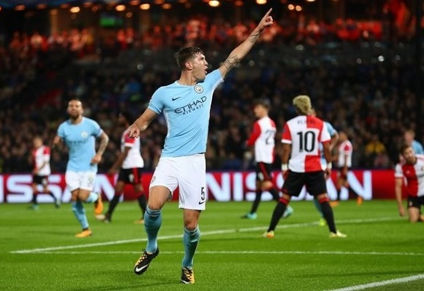 Feyenoord 0 -4 Manchester City: John Stones scores twice as City run riot