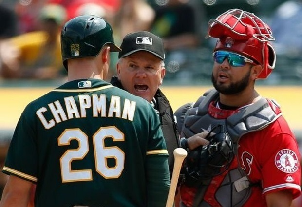 Angels, A's clash over alleged sign-stealing - the old-fashioned way