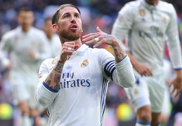 Real Madrid 2-1 Malaga: Zidane's men bounce back through Ramos' double