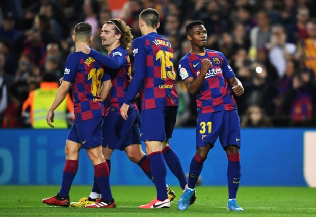 Barcelona 2 -1 Levante: Landmark brace from Ansu Fati enough for shaky champions