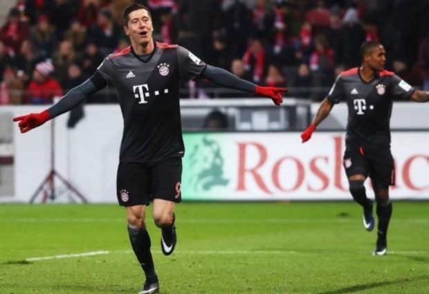 Mainz 1 -3 Bayern Munich: Lewandowski, Muller and Thiago strike for in-form champions