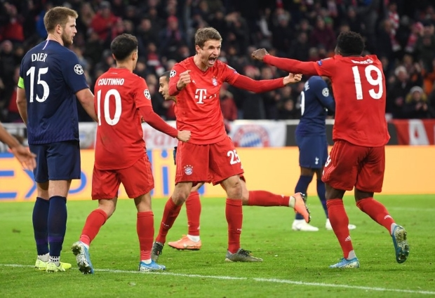 Bayern Munich 3 -1 Tottenham: Group B winners too strong for much-changed Spurs