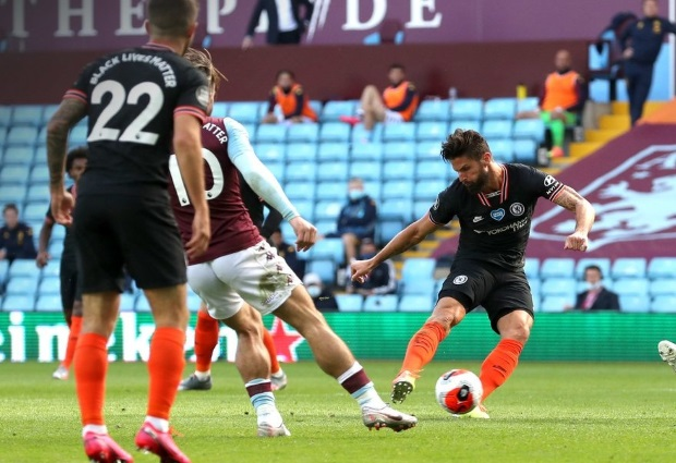 Aston Villa 1 -2 Chelsea: Christian Pulisic and Olivier Giroud scored within two minutes of each other for  Chelsea