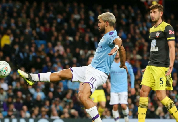 Manchester City 3 -1 Southampton: Aguero double helps EFL Cup holders ease through