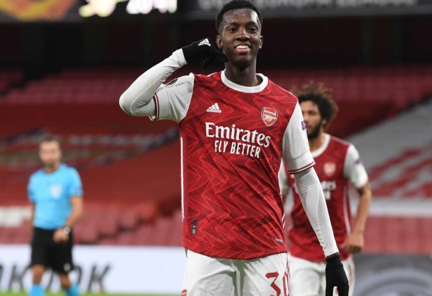 Arsenal 3-0 Dundalk: Gunners ease to victory after Nketiah breakthrough