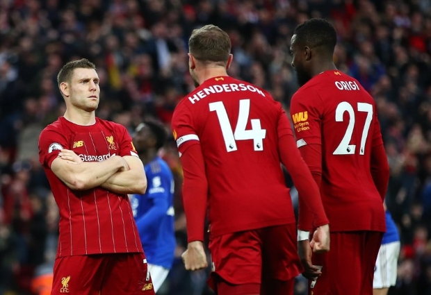 Liverpool 2 -1 Leicester City: Last-gasp Milner penalty maintains Reds' winning run