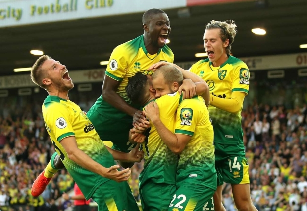 Norwich City 3 -2 Manchester City: Mistakes punished as champions rocked at Carrow Road