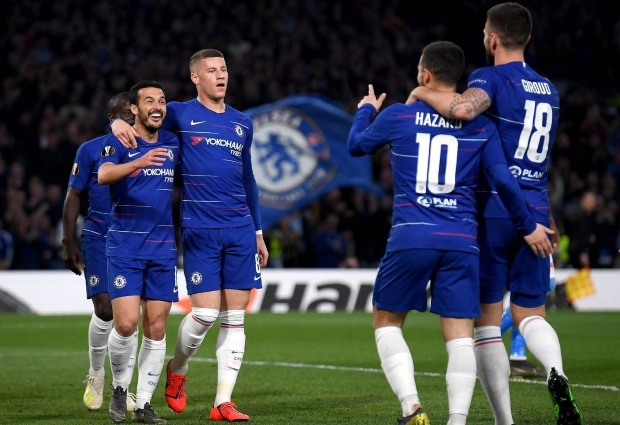 Chelsea 4 -3 Slavia Prague: Sarri's men reach semis despite alarming second half