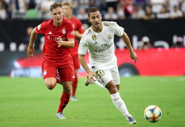 Bayern Munich 3-1 Real Madrid: Hazard makes debut as Bundesliga champs steal show