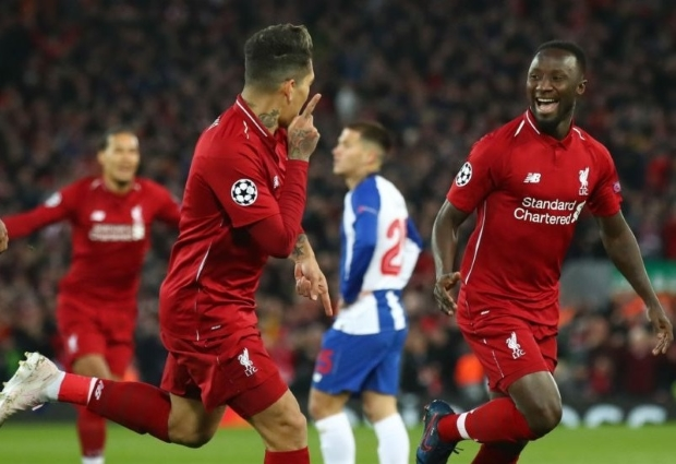 Liverpool 2 -0 Porto: Keita and Firmino give Reds first-leg advantage