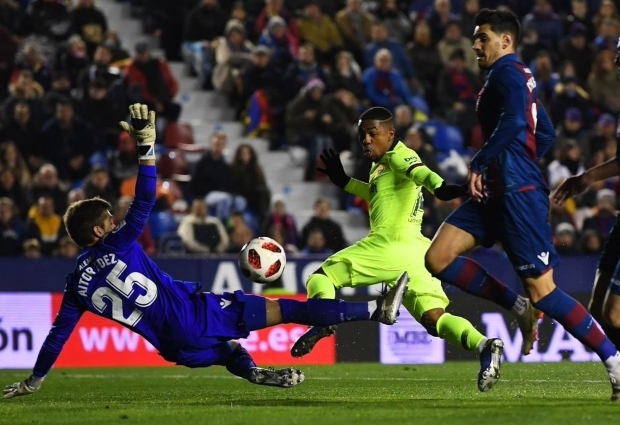 Levante 2 -1 Barcelona: Under-strength Blaugrana beaten in Copa del Rey
