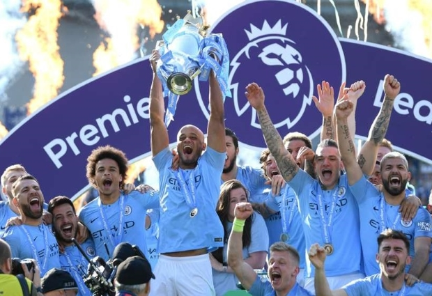 Brighton and Hove Albion 1 -4 Manchester City: Pep's men storm to back-to-back titles