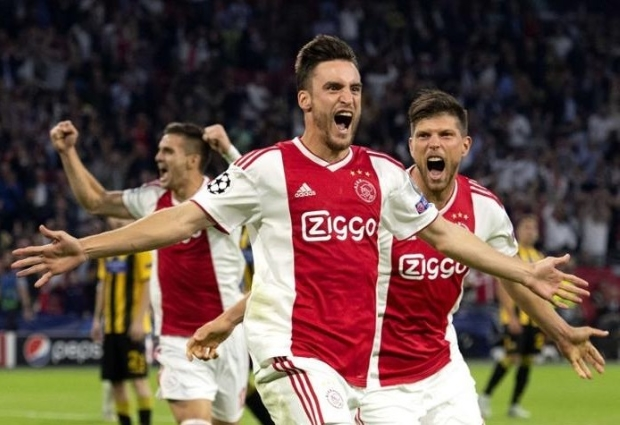 AEK Athens 0 -2 Ajax: Tadic sends Dutch side through after pre-match violence