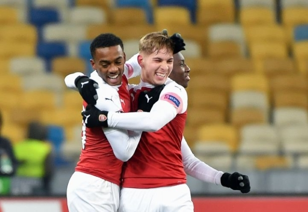 Vorskla 0 -3 Arsenal: Gunners through as group winners after cruise in Kiev