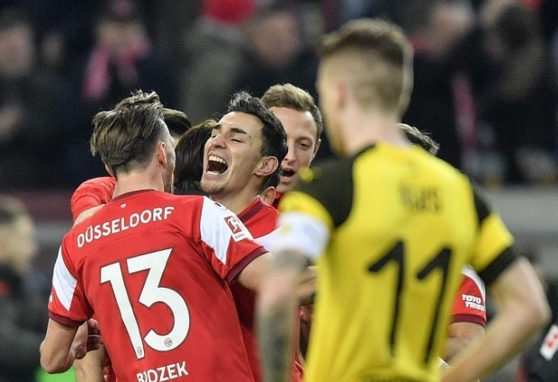 Fortuna Dusseldorf 2 -1 Borussia Dortmund: Bundesliga leaders suffer shock first loss