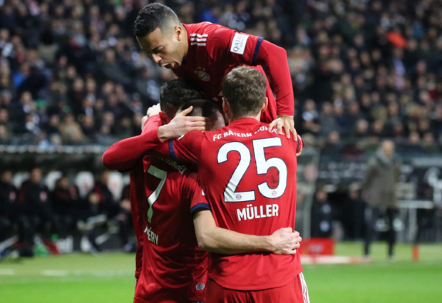 Eintracht Frankfurt 0 -3 Bayern Munich: Ribery double narrows the gap