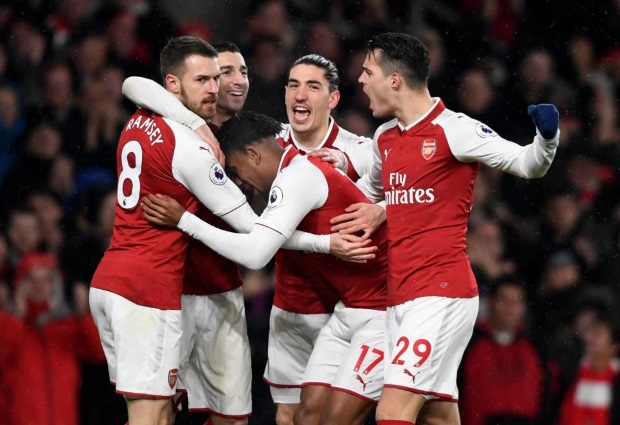 Arsenal 5 -1 Everton: Aaron Ramsay leads the way with a hat-trick as Arsenal new boys make their mark