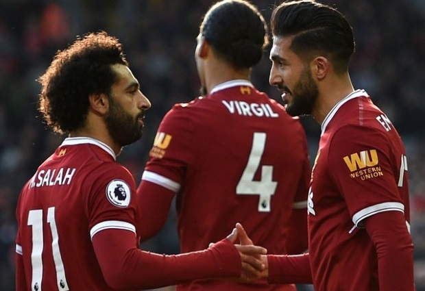 Liverpool 4 -1 West Ham: Salah nets again as Reds climb to second