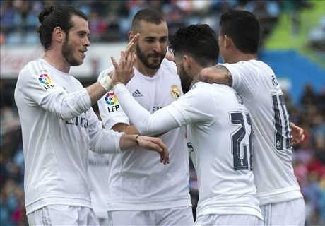 Getafe 1-5 Real Madrid: Zidane's men record easy victory