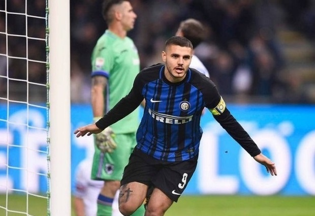 Inter beats Sampdoria 3-2 to take lead at least for a night