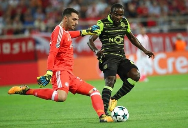 Sporting Lisbon beats Olympiakos 3-2 in Champions League