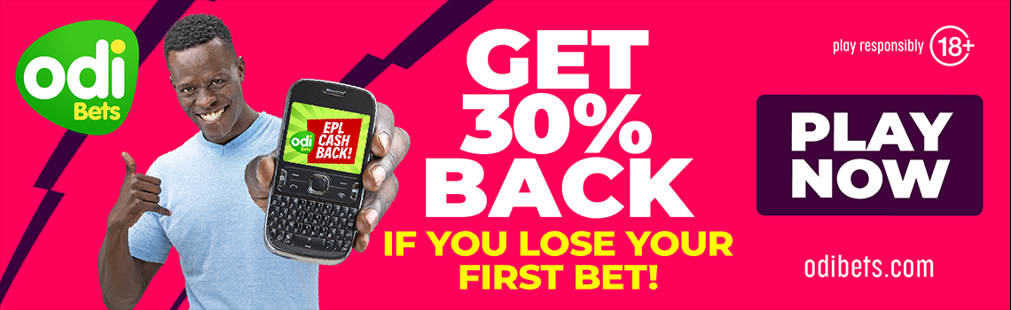 Get 30% back if you lose your first bet at odibets.com